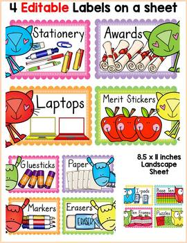 FARM CLASS DECOR: EDITABLE CLASSROOM SUPPLY LABELS