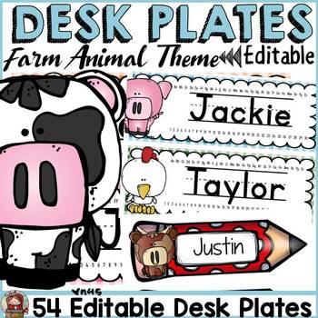 FARM CLASS DECOR: EDITABLE DESK/NAME PLATES/LABELS