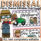 FARM CLASS DECOR: EDITABLE DISMISSAL CHARTS