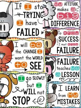 FARM CLASS DECOR: EDITABLE GROWTH MINDSET QUOTE POSTERS