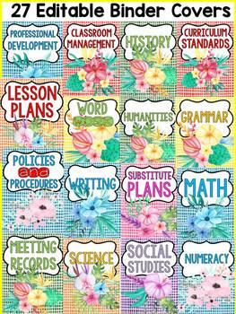 FARM CLASS DECOR: EDITABLE TEACHER BINDER COVERS