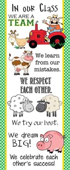 FARM - Classroom Decor: LARGE BANNER, In Our Class