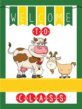 FARM - Classroom Decor: WELCOME Poster - 18 x 24, you personalize, Design A
