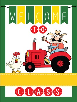 FARM - Classroom Decor: WELCOME Poster - 18 x 24, you personalize, Design B
