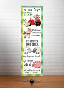 FARM - Classroom Decor: X-LARGE BANNER, In Our Class...