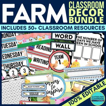 Farm Classroom Theme Decor Google Classroom