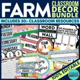 FARM Classroom Decor EDITABLE