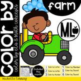 FARM-COLOR BY- Math and ELA concepts - PRE-K & Kinder