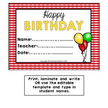 FARM HOUSE Birthday Bulletin Board Display Fully Editable