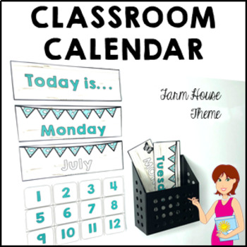 FARM HOUSE Classroom Decor Calendar