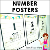 FARM HOUSE Classroom Decor Number Posters