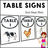 FARM HOUSE Classroom Decor Table Signs