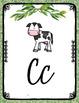 FARMHOUSE RUSTIC CLASSROOM DECOR CURSIVE ALPHABET POSTERS EDITABLE