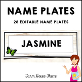 Editable Name Plates Farm House Classroom Decor