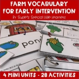 FARM LITERACY UNIT FOR PRESCHOOL SPECIAL EDUCATION AND SPEECH THERAPY