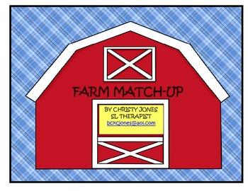 FARM MATCH-UP (A Kindergarten I Spy Activity)