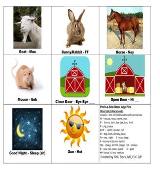FARM PICS for Peekaboo Barn app