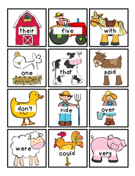 *FARM* Read/Write Around the Room (Letters/Sight Words)