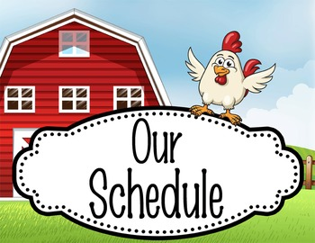 FARM - Schedule Cards / editable MS WORD / Illustrated