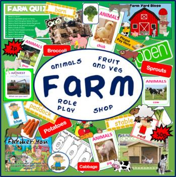 FARM TEACHING RESOURCES ANIMALS FRUIT VEGETABLES SHOP ROLE PLAY