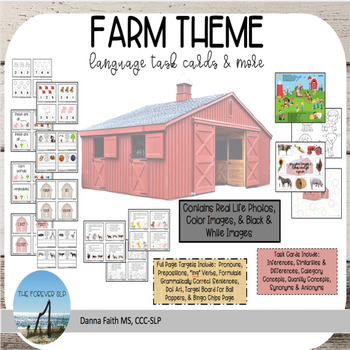 FARM THEME Language Task Card and More