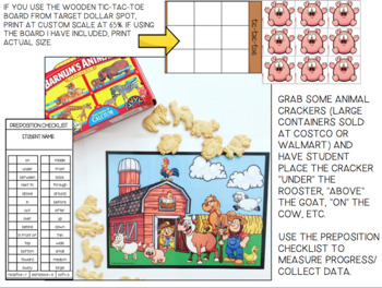 FARM  TIC TAC TOE SNACKTIME Speech Therapy GAME BOARDS