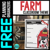 FARM Theme Decor Planner by Clutter Free Classroom