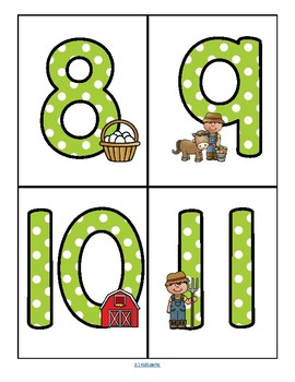 FARM Theme Large Numbers 0-20 - Make Activities and Room Decor