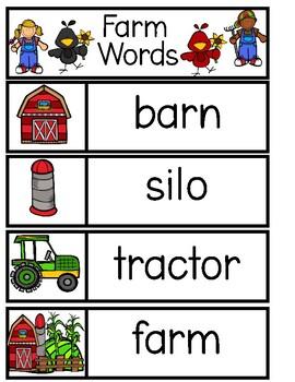 FARM Word Cards {Capital & Lowercase}