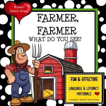 FARMER FARMER WHAT DO YOU SEE? Plus EXTRA LARGE Bonus BARN Poster Activity