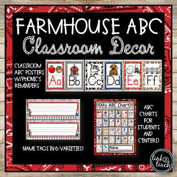 FARMHOUSE ABC Classroom Decor Packet
