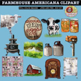 FARMHOUSE AMERICANA CLIPART, CLASS DECOR, BULLETIN BOARDS,