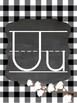 FARMHOUSE Alphabet A-Z  Posters... Shiplap, Black & White buffalo check