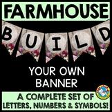 FARMHOUSE BULLETIN BOARD BANNERS (RUSTIC FARMHOUSE CLASSRO