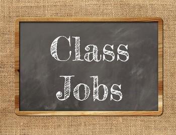 "FARMHOUSE CLASS JOBS BULLETIN BOARD ""Helping Hands"" Burlap Decor Chic Rustic"