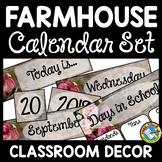 FARMHOUSE CLASSROOM DECOR CALENDAR SET RUSTIC