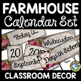 FARMHOUSE CLASSROOM DECOR CALENDAR SET RUSTIC
