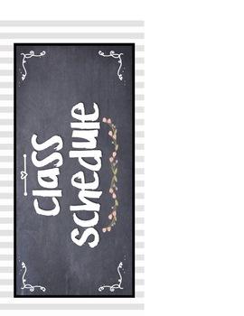 FARMHOUSE CLASSROOM DECOR DAILY CLASSROOM SCHEDULE CARDS
