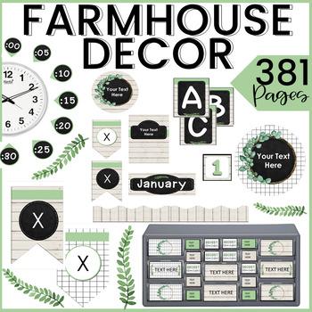 FARMHOUSE Classroom Decor | EDITABLE