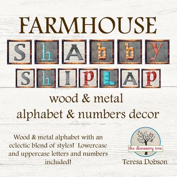 FARMHOUSE Shabby Shiplap Decor - Alphabet & Numbers