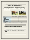 FARMING: COMPARE TWO TYPES OF CATTLE/ GRS. 8-12, AP BIO,VOCATIONAL STUDIES