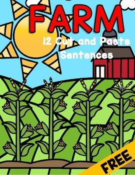 FARMS Cut and Paste 12 Predictable Sentences FREE