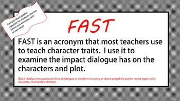 FAST:  Analyzing Author's Use of Dialogue