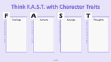 FAST Character Traits Digital Graphic Organizer for Google Slides