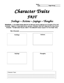 FAST:  Character Traits Graphic Organizer