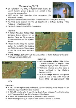 FAST FACTS: The Events of September 11, 2001