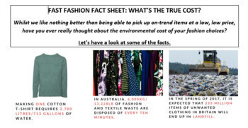 FAST FASHION ACTIVITY: SUSTAINABILITY AND ENVIRONMENT