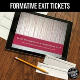 Exit Tickets: Paper Slips & Display Questions (Any Subject)