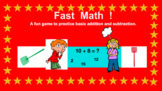 FAST MATH GAME FOR ADDITION AND SUBTRACTION - 1st - 3rd graders