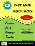 FAST Math Fluency Practice - 1st Grade